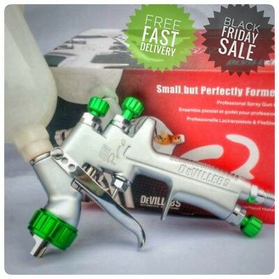Sri Pro 1.2mm HVLP Paint Spray Gun Devilbiss Mini Gravity Feed Paint Sprayer