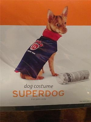 PET DOG SUPERDOG COSTUME CAPE SIZE SMALL - Halloween Pet Costume