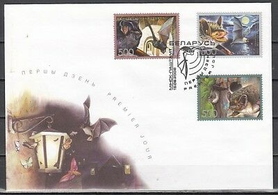 Belarus, Scott cat. 593-595. Various Bats issue on a First day Cover.