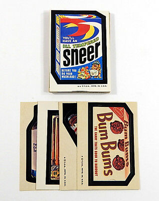 1974 Topps Wacky Packages Original 6th Series Set (33/33) Tan Back Avg Vg to Nm