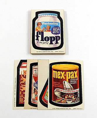 1974 Topps Wacky Packages 7th Series Set (33/33) Grime Heavy Chunks Big Muc