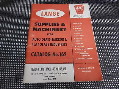 Old Vtg 1950s Henry G. Machine Works LANGE SUPPLIES & MACHINERY  CATALOG #162