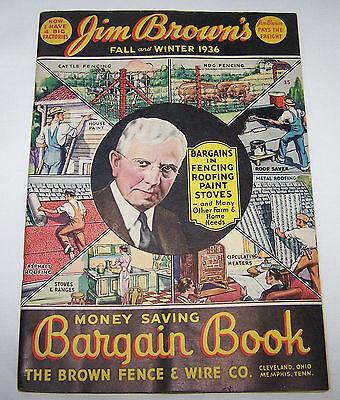 1936 Catalog-Brown Fence & Wire Co-Cleveland Oh-Farm-Home-Stoves-Paint-Roof-++