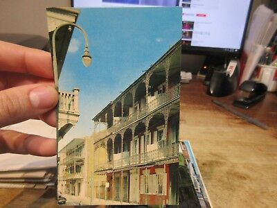 Vintage Old Postcard LOUISIANA New Orleans French Quarter Royal Street Creole