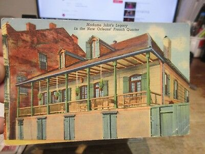Vintage Old Postcard LOUISIANA New Orleans French Quarter Madame John's Legacy