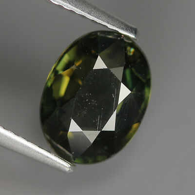 2.04 Ct Natural Unheated Greenish Yellow KORNERUPINE Oval Gem @ See Vide!