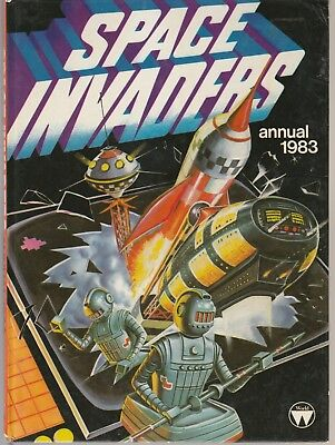 "Space Invaders Annual 1983  ""Classic Hardcover Sci Fi Story Book"""
