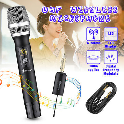 UHF 25 Channel Wireless Handheld Microphone System With Receiver Karaoke US
