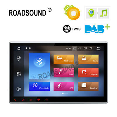 "10.1"" Android 8.0 Octa-Core 4GB RAM Double 2DIN Car GPS Navigation Stereo Radio"
