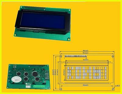 MC2004E LCD Display 4x20 Characters Parallel 16 Pins mit LED BACKLIGHT Blue 1 x