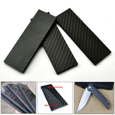 3K Carbon Fiber Knife Handle Sword Gun Scale Slab Making Supplies Material DIY
