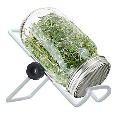 Seed Sprouting Stand Non-slip Tablet Stand Iron For Mason Jars Phone Tablet Kit