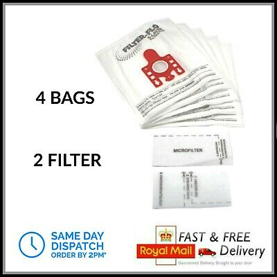4 FJM Dust Bags & Filters fit Miele Vacuum Cleaner Hoover C2 C1 Compact Complete