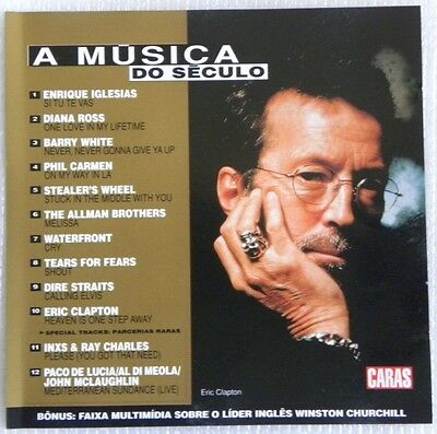 Eric Clapton Dire Straits Tears For Fears Inxs Cd Promotional Brazil Only 1999