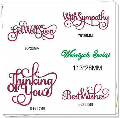 Words Sentiment Metal Cutting Dies Stencils DIY Scrapbooking Handcraft New Decor