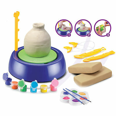 Pottery Wheel Starter Kit with Clay Bags Tools Paint Learning Molding Game Xmas
