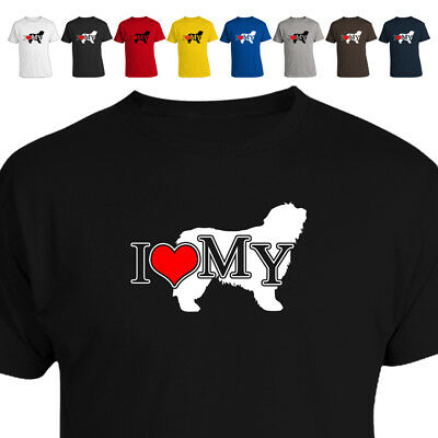 I Love My Bearded Collie Dog Lover T Shirt Gift 018