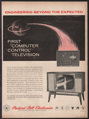 PACKARD BELL Computer Controlled Television JAN 1960 Original Print Ad