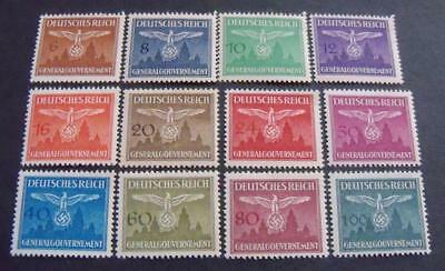 German Third Reich WW2 General Government 1943 Coat of Arms -MNH- Complete Set