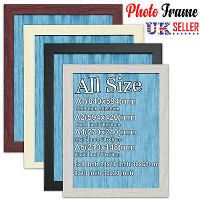 MODERN Decor PHOTO PICTURE POSTER FRAME Frames Wood Effect LARGE MULTIPLE SIZES