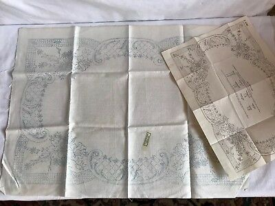 Vintage Irish Linen 'Trolley Cloth' to embroider.