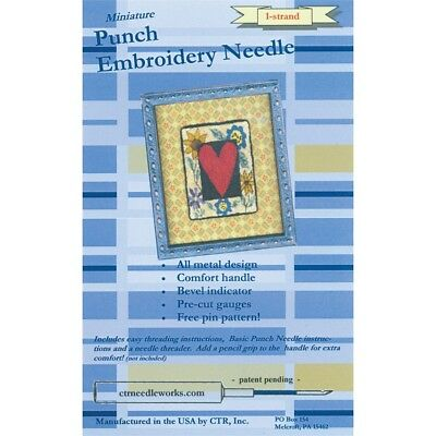 Ctr Needleworks Miniature Punch Embroidery Needle-blue 1-strand