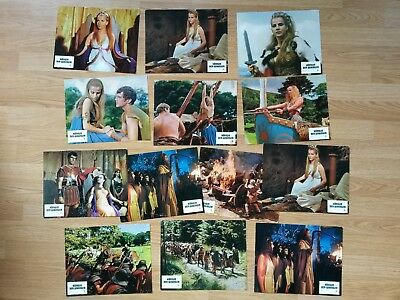 HAMMER GLAMOUR - THE VIKING QUEEN - 13 vintage German lobby cards 1967
