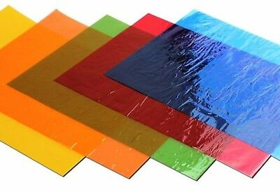 48 Mixed Colour A4 - Cellophane Sheets  Colourfast Acid Free Tint Wrap Craft