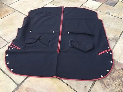 Mgb Rubber Bumper Tonneau Cover In. Black/red Canvas Material LHD Cars Only