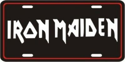 IRON MAIDEN METAL LICENSE PLATE MUSIC TAG