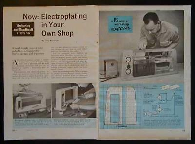 Electroplating Tanks - Small Shop How-To build PLANS Formulas