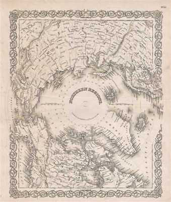1857 Colton Map of the Arctic or North Pole