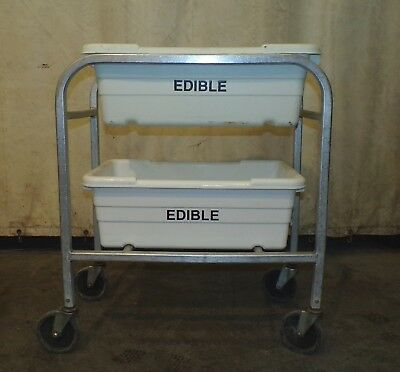 "Aluminum New Age Inds. 2 Lug Capacity Dolly W/ 2 Hantover White ""Edible"" Lugs"