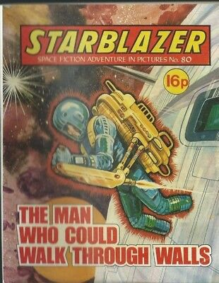 The Man Who Could Walk Through Walls,starblazer Space Fiction,comic,no.80