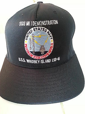 USS Whidbey Island LSD-41 / SSDS MK I Demonstration PEO Hughes Ball Cap Size M/L