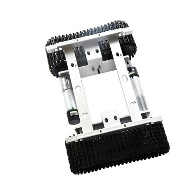Silver 9V Robot Tank Crawler Chassis For Arduino Smart Car with Code Wheel