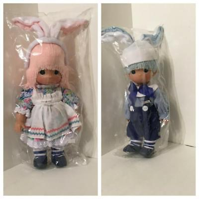 Precious Moments SOME BUNNY SPECIAL 12in. Vinyl Boy & Girl Easter Clown Doll Set