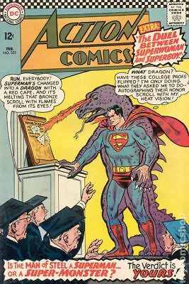 Action Comics (DC) #333 1966 VG- 3.5 Stock Image Low Grade
