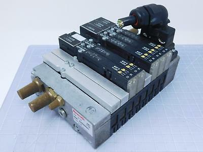 Lot of 5 Rexroth R480089443 Pneumatic Valve Assembly 24 VDC w/ Manifold T121179