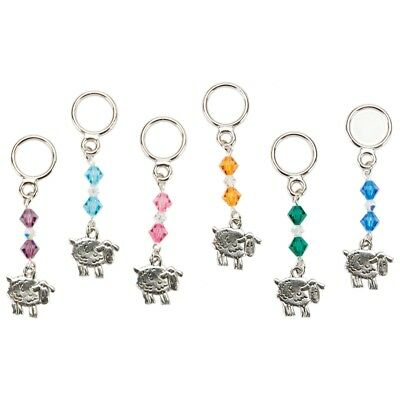 Cedar Creek Stitch Markers 6/pkg-sheep