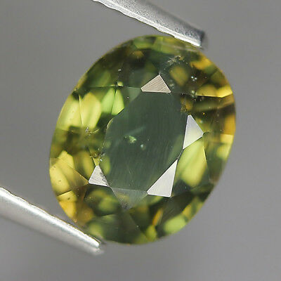 1.86 Ct Natural Unheated Greenish Yellow KORNERUPINE Oval Gem @ See Vide!
