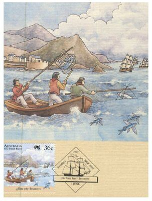 Australian Maxicard - 1987 - 3 cards - First Fleet in Tenerife