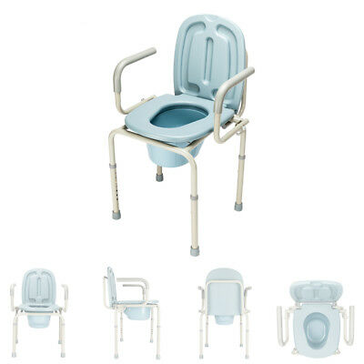Portable Toilet Commode Chair Potty Chair Disability Aged Aid 300lbs