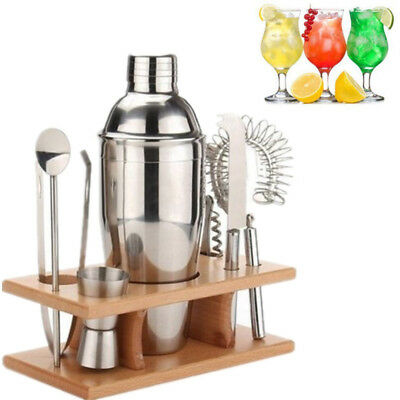 Cocktail Shaker Set Drinks Mixer Ice Tongs Bar Bucket Bartender Home Party Maker