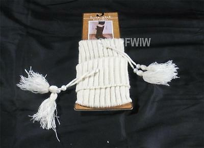 Luxe Girl Cream Ribbed Knit Boot Toppers New NWT