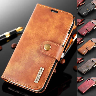 For iPhone Xs Max XR X 8 Detachable Leather Wallet Magnetic Flip Card Case Cover
