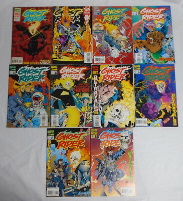 GHOST RIDER #46 54-61 Annual #2 * Marvel Comic Lot * 10 Comics 55 56 57 58 59 60