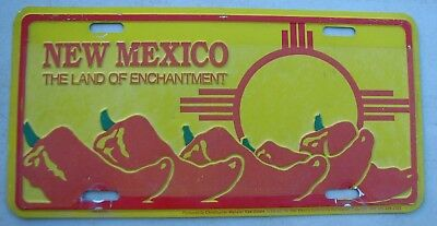 Vintage  New Mexico Land Of Enchantment Chile  Booster Front License Plate  Nm