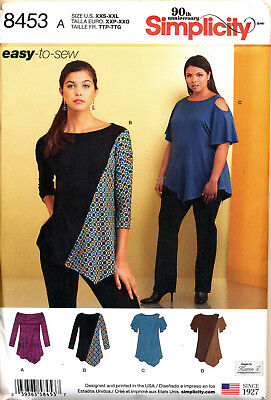 Simplicity Sewing Pattern 8453 Misses Sz 4-26 Easy-To-Sew Tops Incl. Plus Sizes