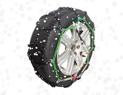"""Green Valley TXR7 Winter 7mm Snow Chains - Car Tyre for 14"""" Wheels 215/55-14"""